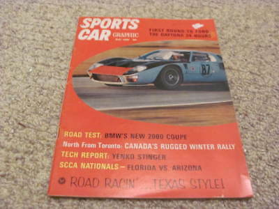 1966 Ford GT40 Road Test Daytona Yenko Stinger Shelby Mustang XKE P1800 Ad Coke