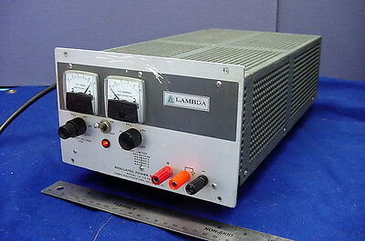 Solid Tested Lambda 0-10Vdc, 9A. Regulated, Metered Power Supply Mod. Lh 119 Fm