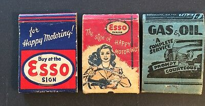 Matchbooks X3 ESSO GAS STATIONS, BLUEFIELD, W VA  No Matches