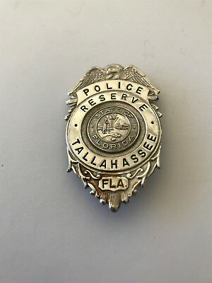 Obsolete VINTAGE Police Reserve BADGE TALLAHASSEE FLORIDA, RARE