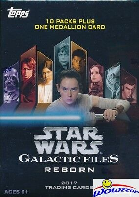 2017 Topps Star Wars Galactic Files EXCLUSIVE Sealed Blaster Box-MEDALLION