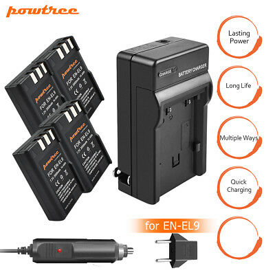 Powtree New EN-EL9a Battery or charger For Nikon DSLR D40x D60 D3000 Camera TP