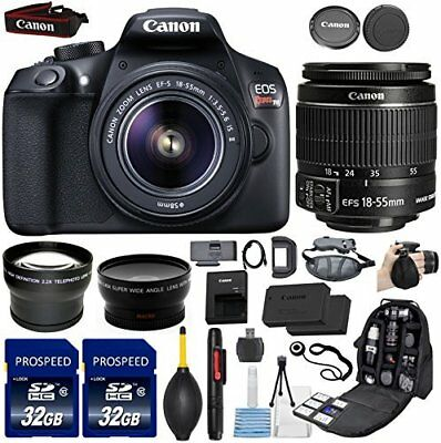 Canon EOS Rebel T6 18MP DSLR Camera with EF-S 18-55mm IS II Lens + Bundle