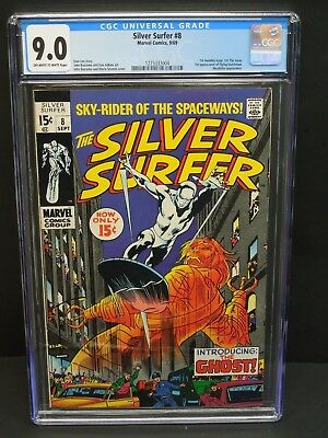 Marvel Comics Silver Surfer #8 1969 Cgc 9.0 Ow/wp 1St Flying Dutchman Appearance