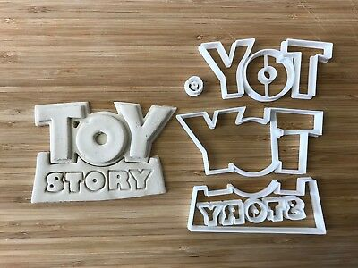Toy story logo Uk Seller Plastic Biscuit Cookie Cutter Fondant Cake Decorating