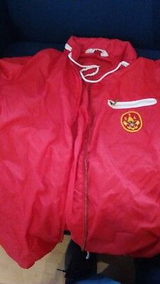 Vintage Boy Scouts Of America Red Lightweight Rain Jacket Size Med