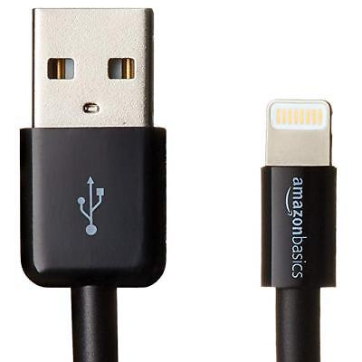 AmazonBasics Lightning to USB A Cable - Apple MFi Certified - Black - 3 Feet