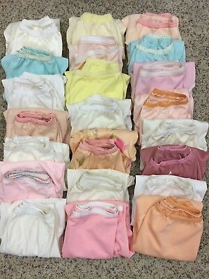 "Estate Lot Of 22 Nylon Granny Panties Lace  Handmade Size 6 Hips 36"" Vintage"