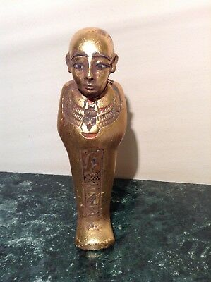 Rare Antique Ancient Egyptian Ushabti Architect Imhotep winged Scarab2667-2600BC