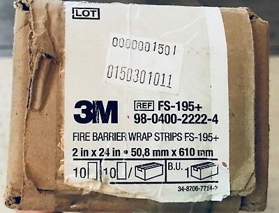 "3M Fire Barrier Wrap Strips 2""x24"" FS-195+ *10 NEW*"