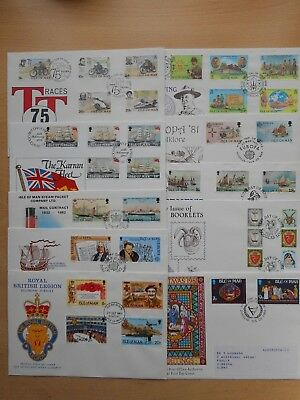 Isle of Man 1980's 19 different First Day Covers collection remainders