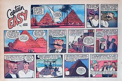 Captain Easy by Leslie Turner - Lot of 4 half-page Sunday comics, September 1958