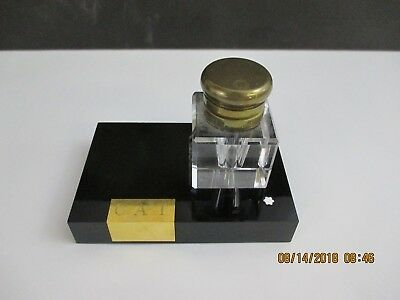 Vintage Mont Blanc Masterpiece Series Inkwell With Stand - Monogrammed  Cat