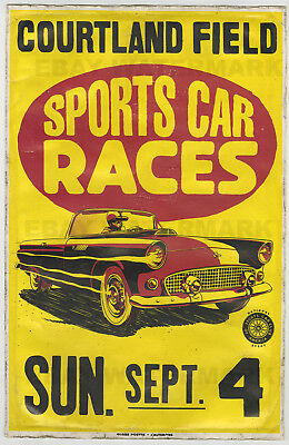 1955 Ford Thunderbird Courtland Alabama Race Vintage Advertising Poster 11 x 17