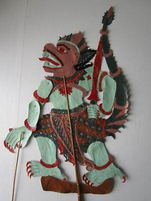 Vintage Fine Leather Chinese Large Shadow Stick Rod Puppet # 11