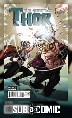 UNWORTHY THOR #1 FERRY DIVIDED WE STAND VARIANT (MARVEL 2016 1st Print)