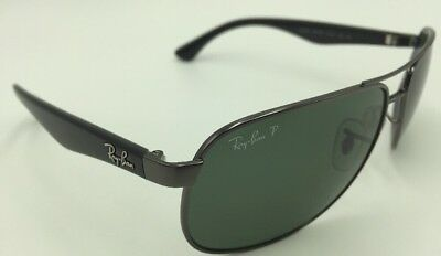Ray-Ban RB 3502 004/58 Sunglasses - Black w/ Green Polarized