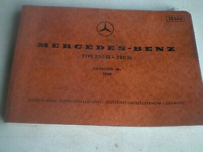 1968 Mercedes Benz Dealer Catalog Original Lot#02