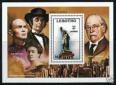 Lesotho 1986 Statue of Liberty MS SG709 MNH