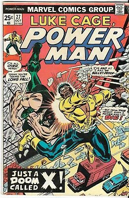 1975 Luke Cage Power Man Issue 27 Marvel Comic Book Great Color Early Bronze Age