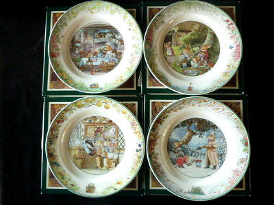 Villeroy & Boch Foxwood Tales Spring Summer Autumn Winter Salad Plates w Boxes