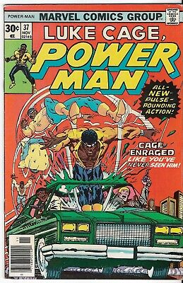 1976 Luke Cage Power Man Issue 37 Marvel Comic Book Great Color Early Bronze Age