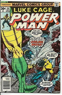 1976 Luke Cage Power Man Issue 38 Marvel Comic Book Great Color Early Bronze Age