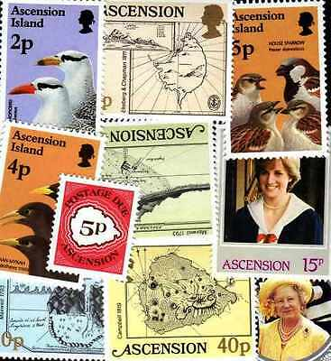ASCENSION - Ascension ISLAND collectables from 10 to 100 stamps different