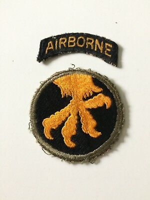Wwii U. S. Army 17Th Airborne Division Colored Patch With Airborne Tab