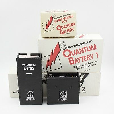 Quantum Battery 1 & 2 With Sunpak Adapter Cable PM-S f/ PARTS UNTESTED