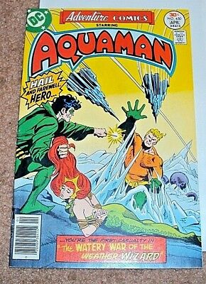 Adventure Comics #450 1977 Aquaman Mera Bondage Cover Bronze Age Dc Comics