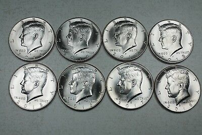 2015 2016 2017 2018 P D Uncirculated Kennedy Half Dollar Mint Roll Set