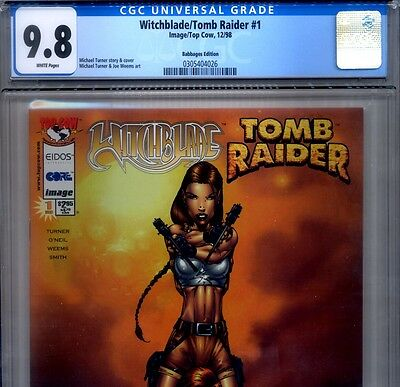 PRIMO:  WITCHBLADE / TOMB RAIDER #1 NM/MT 9.8 CGC BABBAGES variant HIGHEST comic