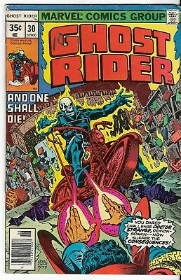 1978 Ghost Rider Issue #30 Marvel Comic Book Vintage Rare Great Color L@@k