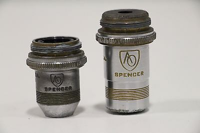 AO Optical Spencer 1116 45x N.A. 0.66 1076 10x 0.25 Microscope Objective Lens