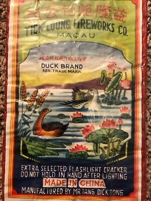 Duck Brand Fireworks Brick Label