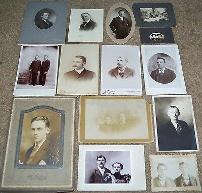 Lot Of Antique Cabinet Photos & Other Pics: Gentlemen, Couples, Brothers