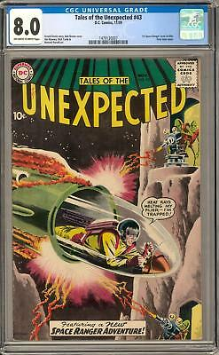 Tales of the Unexpected #43 CGC 8.0 (OW-W) 1st Space Ranger cover in title