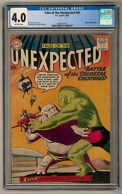 Tales of the Unexpected #40 CGC 4.0 (OW) Space Ranger Begins