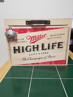 Rare Miller High Life Cooler with attached bottle opener