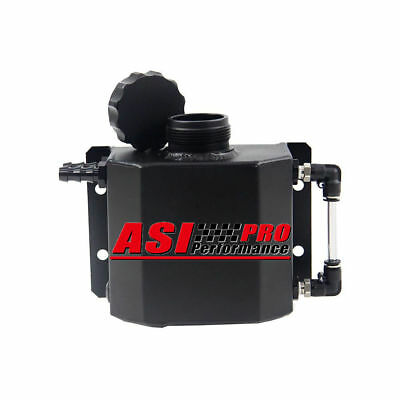 Universal 1L Aluminum Coolant Radiator Overflow Recovery Water Tank Black AU/