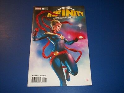 Infinity Countdown Captain Marvel #1 variant NM- Gem Wow