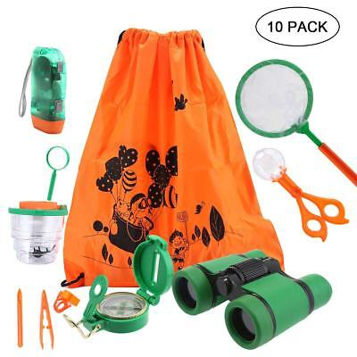 Exploration Kit for Kids 10PCS Outdoor Explorer Backpack Educational Summer Toy