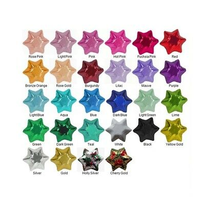 20-100 Pieces In Cadbury Chocolate Stars-Select Colours-Christmas Wedding Party