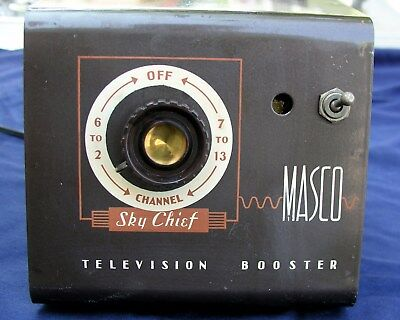 Vintage 1950s MASCO SKY CHIEF TELEVISION BOOSTER Model MB-2 Mark Simpson Mfg Co