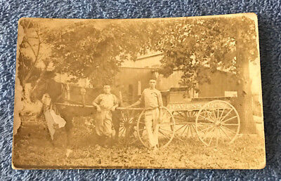 Real Photo Postcard  Havens Bros. Delivery Wagon