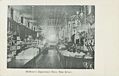 An Aisle View In McMillan's Department Store, New Britain, Connecticut CT 1907