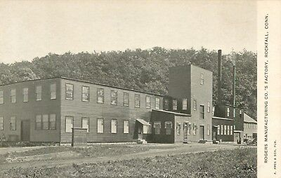 A View Of The Rogers Manufacturing Company's Factory, Rockfall, Connecticut CT