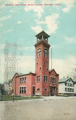 A View Of The Charter Oak Hose Company, Butler Street, Meriden, Connecticut CT