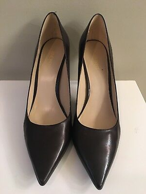 "Nine West Brown Leather High Heels ""Martina"" EUC! 12"